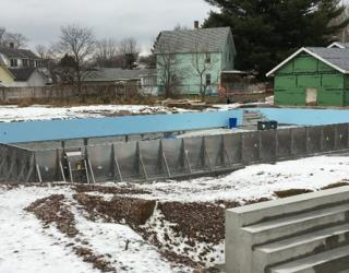 Winooski pool construction